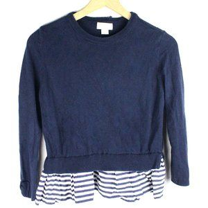 Kate Spade Girl's Blue Navy Quilted Sweater Skirt